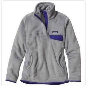 Patagonia Re-Tool Snap-T Fleece Pullover Gray Sz L